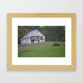 Stark Tree Bears Framed Art Print