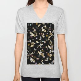 Colorful Gems and Crystals Unisex V-Neck