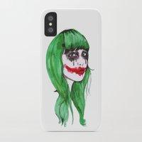 joker iPhone & iPod Cases featuring Joker by Annaleigh Louise