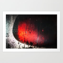 The steam on the glass and the light in the Mirror Art Print