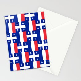Mix of flag: France and Quebec Stationery Cards