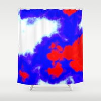 patriotic Shower Curtains featuring Patriotic Sky by Christy Leigh