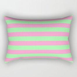 Pink & Green Stripes Rectangular Pillow