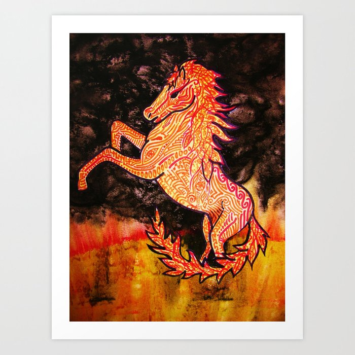 The Fire Horse Art Print