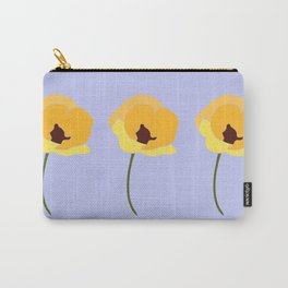 Three Yellow Poppies Carry-All Pouch