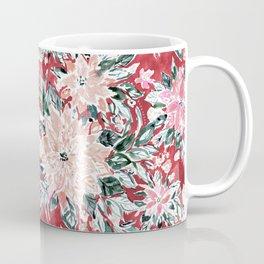 LUSH POINSETTIA Red Lush Holiday Floral Coffee Mug