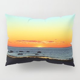 Traditional Seaside Sunset Pillow Sham