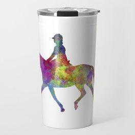 Horse show 05 in watercolor Travel Mug