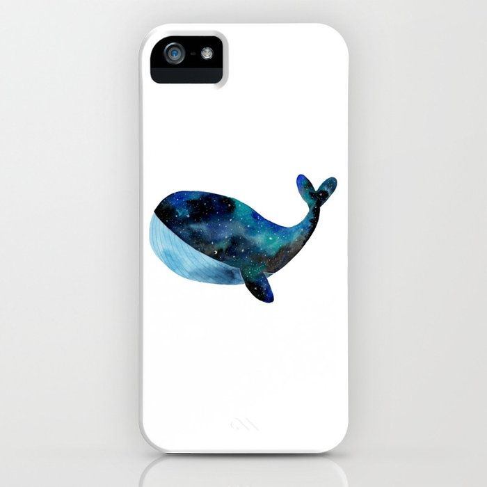 Galaxy whale iPhone Case
