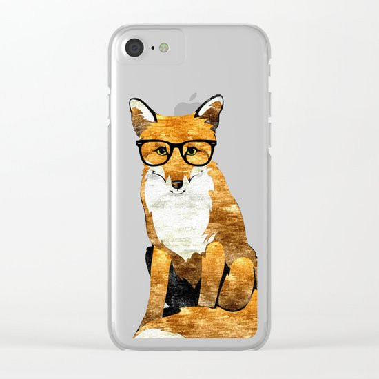 Foxy #society6 #animallover #buyart Clear iPhone Case