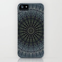 Dark Blue Mandala iPhone Case