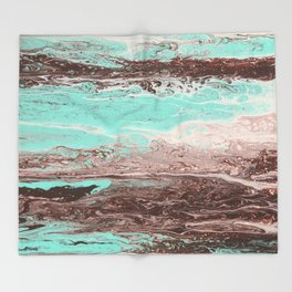 Tidal Shifts of Dawn and Dusk Throw Blanket