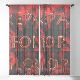 Prepare for Glory-Spartan Warrior Sheer Curtain