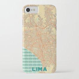 Lima Map Retro iPhone Case
