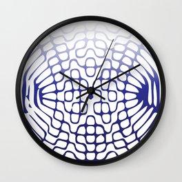 Blue Cymatics Pattern Wall Clock