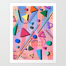 80s pop retro 2 Art Print