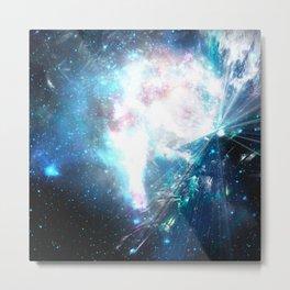 Blue explosion Metal Print
