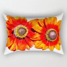 Orange Flower 2 Rectangular Pillow