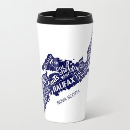 Nova Scotia Map Travel Mug