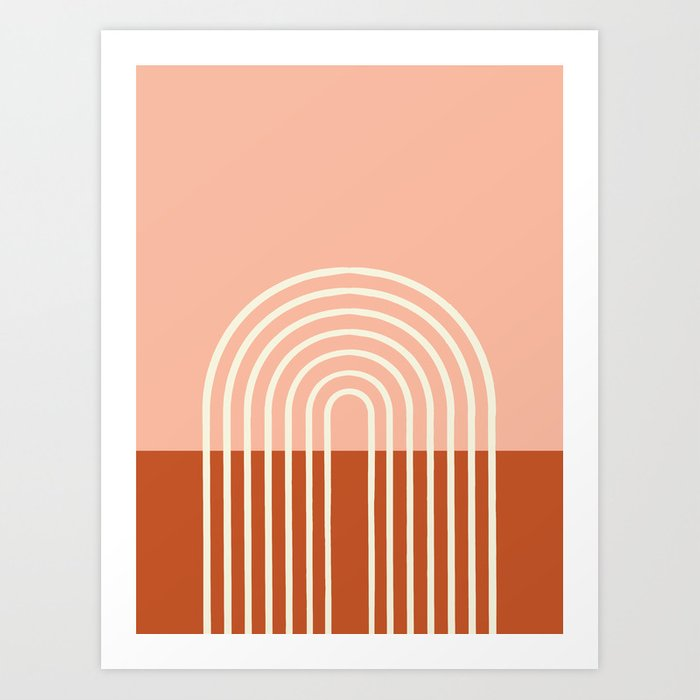 terracotta pastel art print