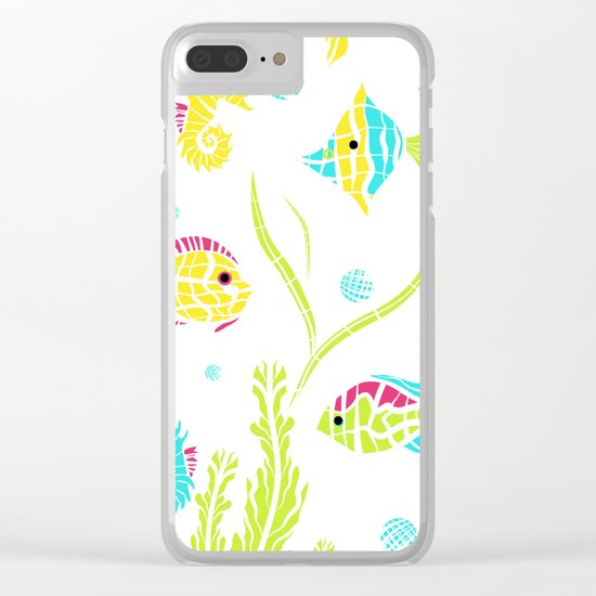 Cartoon Marine fish . Clear iPhone Case