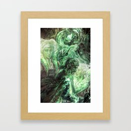 Green Healing Light Framed Art Print