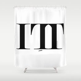 Individual Time Trail Shower Curtain