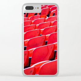 Red Stadium Seats Clear iPhone Case
