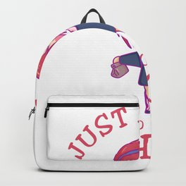 Just A Girl Who Loves School break interval Backpack