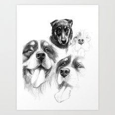 Dogs  sk128 Art Print