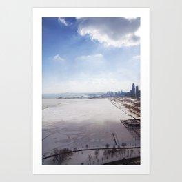 Frozen Lake Michigan!  Art Print