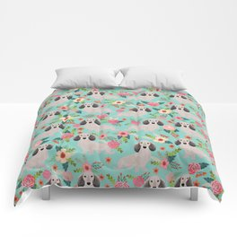 Dachshund florals - shaded cream doxie design cute floral dogs dachshunds cute dog best doxies Comforters
