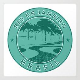 Rio de Janeiro, Brazil, Copacabana beach, green circle Art Print