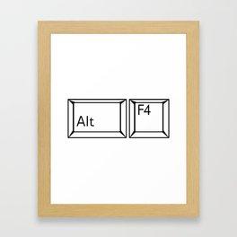 Alt F4 Buttons Framed Art Print