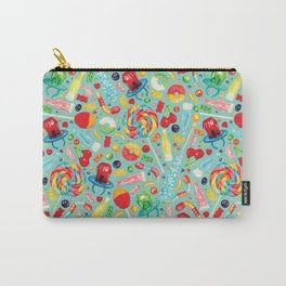 Candy Pattern - Teal Carry-All Pouch
