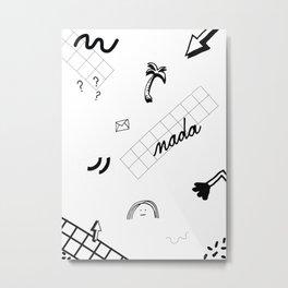 NADA Metal Print