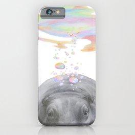 Hippo swimming underwater iPhone Case