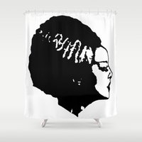 bride Shower Curtains featuring Bride by Abstractink82