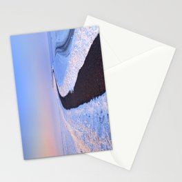 I - Lake and dike at sunrise in winter in The Netherlands Stationery Cards