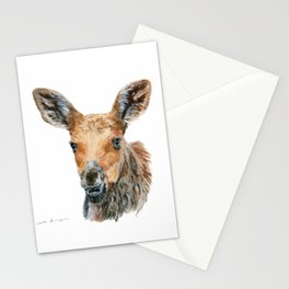 Little Moose by Teresa Thompson Stationery Cards