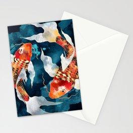 Metallic Koi II Stationery Cards