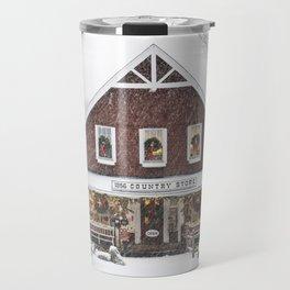 Classic Country Store Christmas Scene Travel Mug