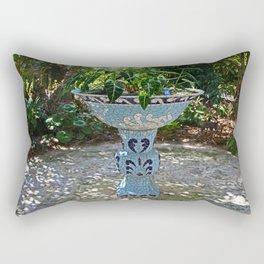 Naples birdbath- horizontal Rectangular Pillow