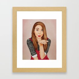 Zoella Kisses Framed Art Print