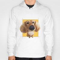 dachshund Hoodies featuring dachshund by joearc