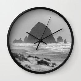 Haystack Rock at Cannon Beach Wall Clock