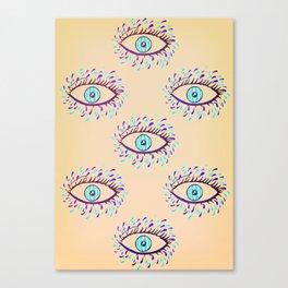 Cry Blue Eyes Canvas Print