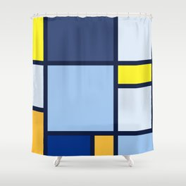 Bauhaus Abstract Pattern 03 Shower Curtain