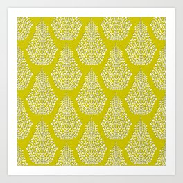 SPIRIT lime white Art Print