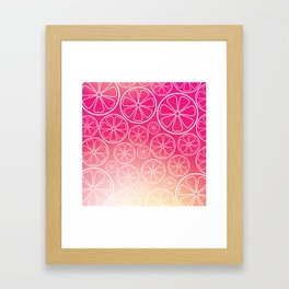 Citrus slices (pink grapefruit) Framed Art Print